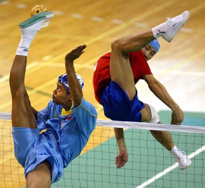Sepak Takraw, a cross between Russian Ballet and Bruce Lee movies, is the most 'unmanly' game to ever come out of Asia.