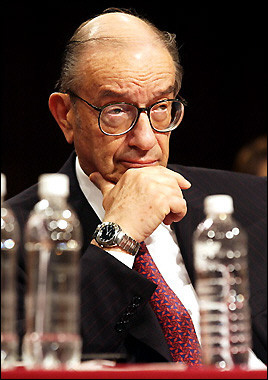 Alan Greenspan testifies to the Joint Economic Committee on Capitol Hill in Washington, DC.  Much has been said about the fabled 'price of tea in China' but Mr. Greenspan strives to correct the little known notion of 'price of water in China'.