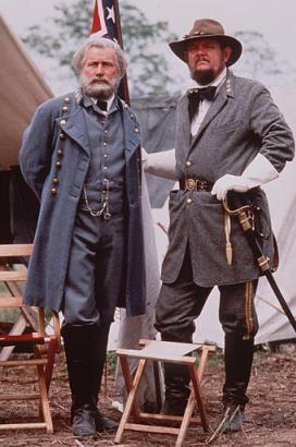 This recently discovered photograph from a private collection of a granddaughter of a Confederate soldier proves that high quality digital color photography did, in fact, exist during the mid-1800's. Pictured are Brigadier General James L. Kemper and General Robert E. Lee.  (Associated Press)
