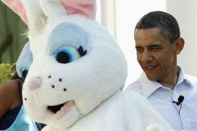 White House officials have stated that President Obama also had eyes on the Easter Bunny recently, but that senior military advisors and several cabinet members advised him to 'limit his scope and focus on bin Laden,' one official revealed Saturday.  (Associated Press)