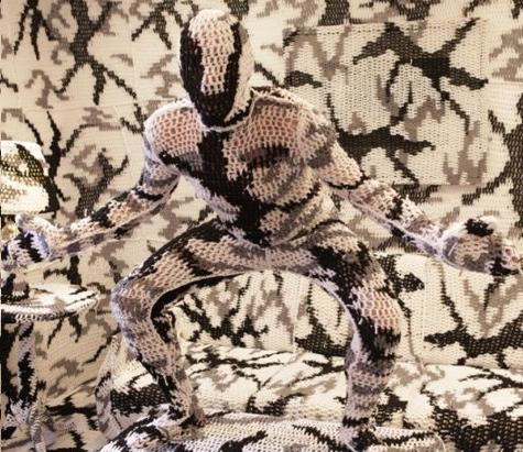 As Batman movies continue to be produced, the franchise is starting to run out of villains. Pictured here is a prototype of 'Mr.Yarn, The Crocheted Crusader of Chaos,' during an audition recently. 'He could blend in with backgrounds with a little bit of planning and would appeal to elderly women, too,' stated executive producer Michael E. Uslan.
