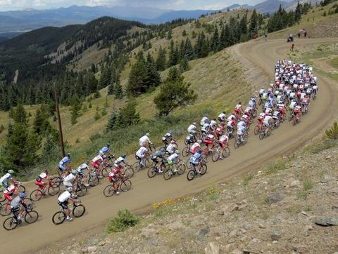 The peloton climbs Cottonwood Pass during Stage Two from Gunnison to Aspen of the 2011 USA Pro Cycling Challenge on August 24, 2011 in Buena Vista, Colorado. Despite his death, Actor Dom DeLuise did not participate in the event as was expected. 'Dead or alive, we were not surprised when we did not receive Mr. DeLuise's registration packet,' stated Ben Davis, spokesman for the Founders' Club of the USA Pro Cycling Challenge.(Getty Images)