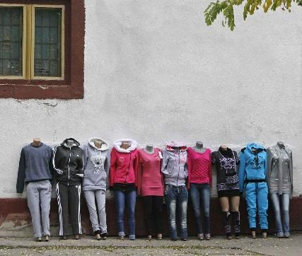 The bodies of ten beheaded women are put on display outside a department store in Belarus, where the group was accused of operating a complex shoplifting ring. Belarusian law allows shop owners to take their own punitive actions in cases where theft exceeds one thousand rubles. (REUTERS)