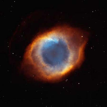 Pictured is the coil-shaped Helix Nebula, one of the largest and most detailed celestial images ever made.  Zealots will remember the first sighting of the phenomenon in the 'Trouble with Tribbles' episode of Star Trek.  Although only seen in 60s Technicolor, it was thought to be just as colorful as it has been proven today. (Associated Press)